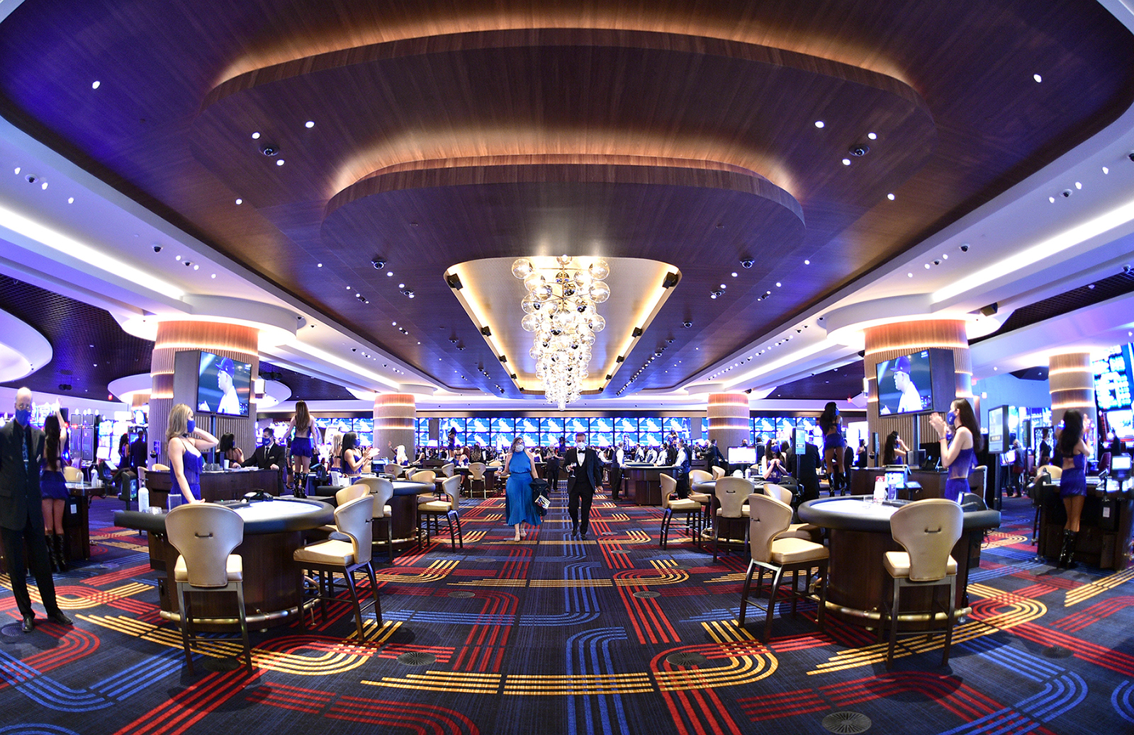 Guests attend the Circa Resort & Casino grand opening event in Las Vegas, Nevada