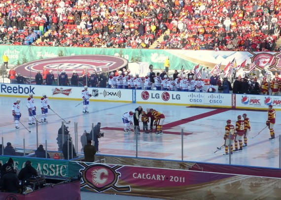 Faceoff at the 2011 Heritage Classic