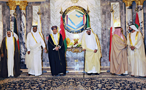 Leaders of the Gulf Arab States pose for a photo before the opening session of the Gulf Cooperation Council (GCC) summit in Riyadh May 10, 2011.