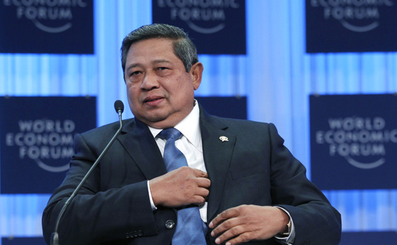 Indonesian President Susilo Bambang Yudhoyono attends a session at the World Economic Forum (WEF) in Davos January 28, 2011.