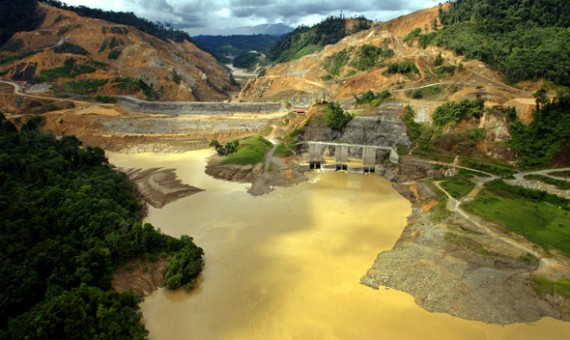 A view from upstream of Malaysia's Bakun dam, in the inland of the eastern state of Sarawak on Borneo island, December 11, 2003.