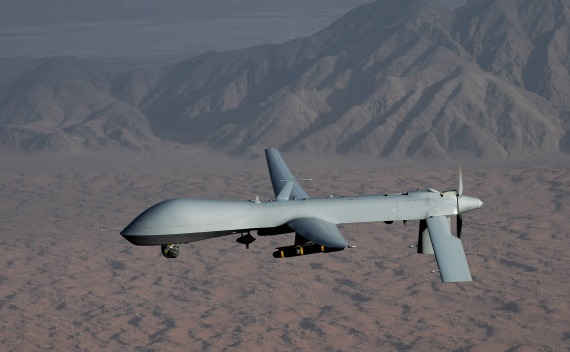 An undated handout image, courtesy of the U.S. Air Force, shows a MQ-1 Predator unmanned aircraft.