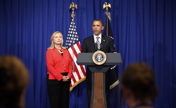 U.S. President Barack Obama announces that Secretary of State Hillary Clinton will travel to Myanmar, on the sidelines of the ASEAN Summit in Bali.