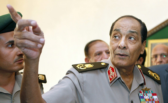 Head of Egypt's ruling military council Field Marshal Tantawi.