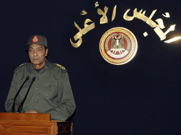 Field Marshal Mohamed Hussein Tantawi, the head of the ruling Supreme Council of the Armed Forces (SCAF), speaks in Cairo November 22, 2011.