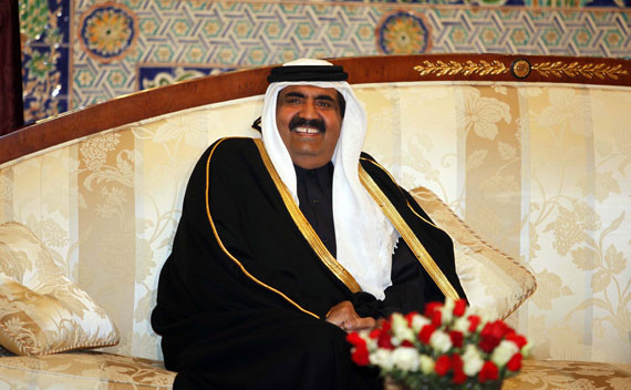 Qatar's Emir Sheikh Hamad bin Khalifa al-Thani on December 2, 2010.