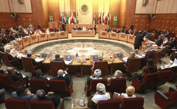 Arab foreign ministers attend an emergency meeting on Syria at the Arab League Headquarters in Cairo, Egypt on November 12, 2011 (Asmaa Waguih/Courtesy Reuters).