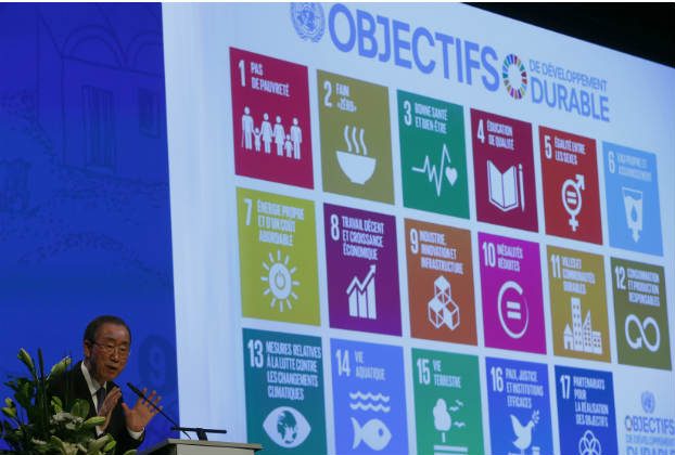 United Nations Secretary-General Ban Ki-Moon addresses a development conference in January 2016. (Anrd Wiegmann/Reuters)