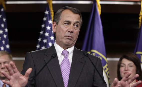 House Republican Leader Boehner during a press conference in Washington, DC, on November 18, 2010.