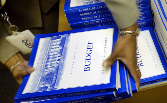 Copies of the federal budget.