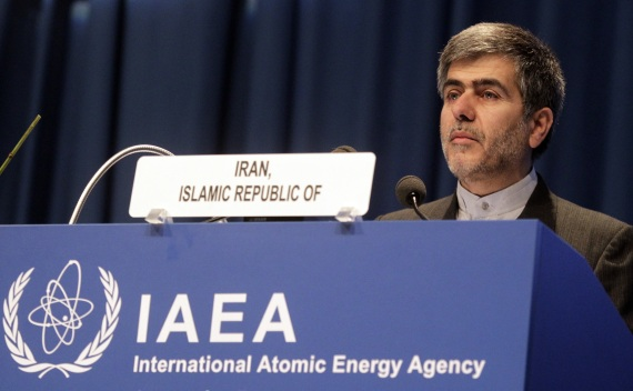 Iran's Head of Atomic Energy Organization Abbasi-Davani speaks at the 55th IAEA General Conference in Vienna on September 19, 2011 (Herwig Prammer/Courtesy Reuters).