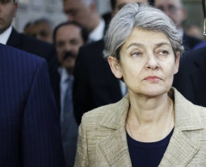 UNESCO Director General Irina Bokova in the Iraqi National Museum in Baghdad November 2, 2014. REUTERS/Thaier Al-Sudani