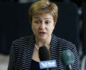 Kristalina Georgieva speaks at a European Union foreign ministers meeting in Luxembourg April 22, 2013. REUTERS/Francois Lenoir