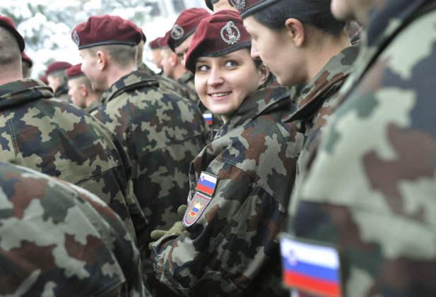 Woman kosovo NATO forces women peace security