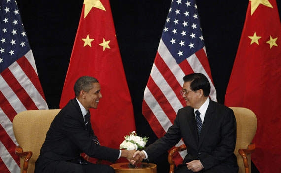 U.S. President Barack Obama meets China's President Hu Jintao in Seoul