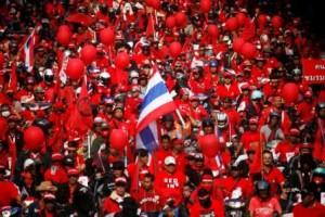 Red Shirt Protesters in Bangkok