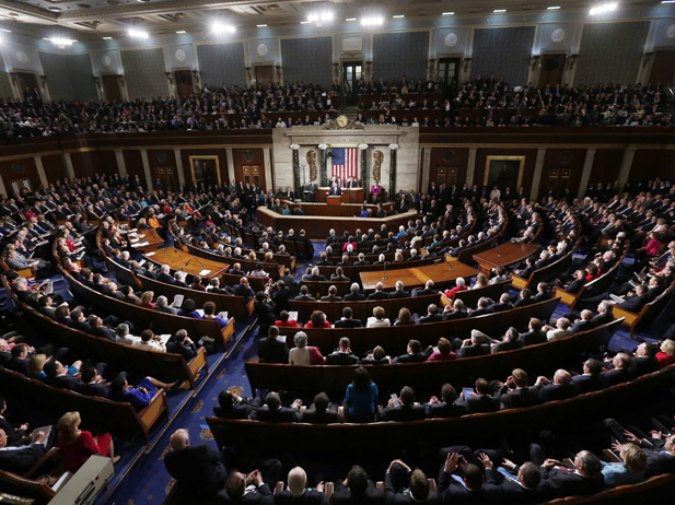 President Barack Obama delivers his State of the Union address to a joint session of Congress on January 25, 2011.