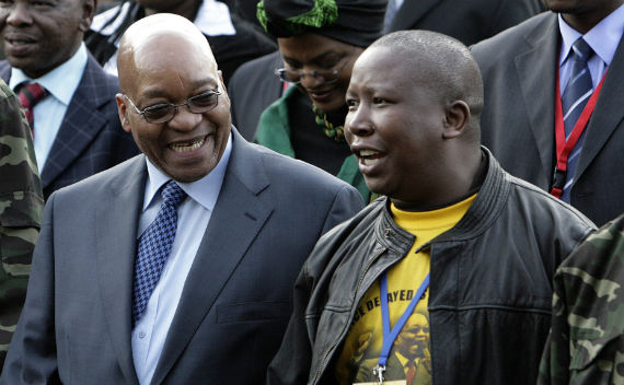 South Africa's Malema and Zuma: Bad Blood?