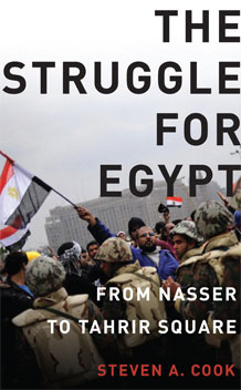 """Steven A. Cook's """"The Struggle for Egypt"""" Captures Top Honors in The Washington Institute Book Prize Competition"""
