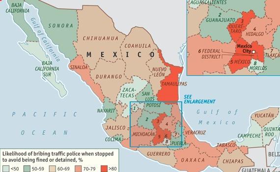 Courtesy The Economist / Transparency International