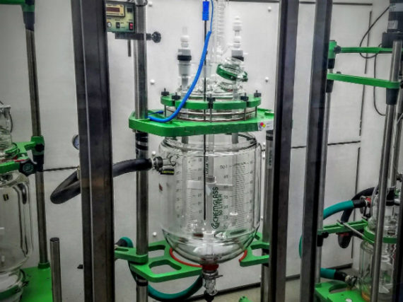Figure 2: An industrial-scale reaction chamber (50 liters) for scaling up synthesis of new lithium-ion electrolyte materials (Varun Sivaram)