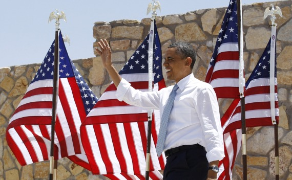 President Obama delivers remarks on immigration reform at Chamizal National Memorial Park in El Paso (Jim Young / Courtesy Reuters).