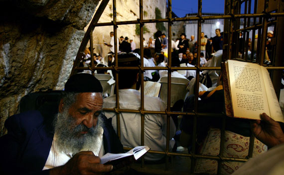 Jewish worshippers pray at the Western Wall in Jerusalem's Old City (Ronen Zvulun/Courtesy Reuters)