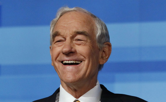 Ron Paul at a recent Republican debate in Florida. (Scott Audette/courtesy Reuters)