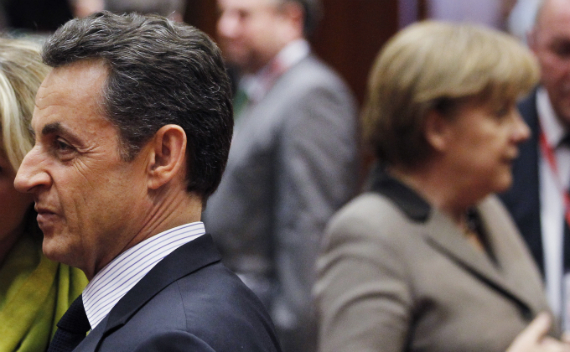 Nicolas Sarkozy and Angela Merkel at a summit in Brussels in March 2011. (Francois Lenoir/courtesy Reuters)
