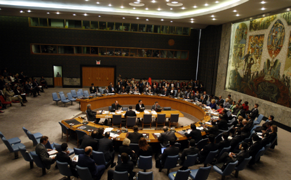 A session of the United Nations Security Council in New York. (Shannon Stapleton/courtesy Reuters)