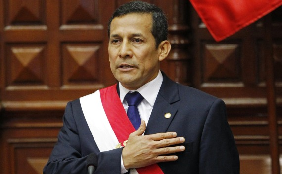 Peru's new President Ollanta Humala is sworn in to office in Congress in Lima (Mariana Bazo/Courtesy Reuters).
