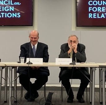 Dr. David Nalin and Dr. Richard Cash at the Council on Foreign Relations