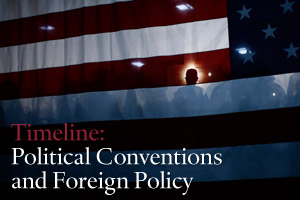 Timeline: Political Conventions and Foreign Policy