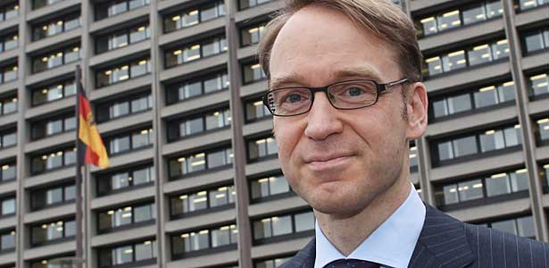 Jens Weidmann, President of German Bundesbank is pictured in front of the Bundesbank headquarters.