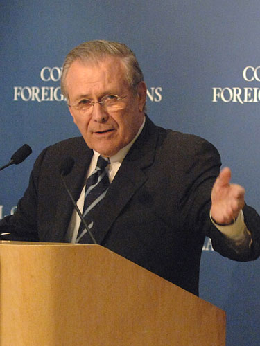 U.S. Secretary of Defense Donald Rumsfeld