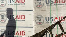 Shadow on USAID boxes