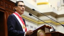 Martin Vizcarra speaks after being sworn in as Peru's President at the congress building in Lima, Peru, March 23, 2018.