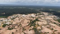 An aerial view shows a deforested area of the Amazon jungle in southeast Peru caused by illegal mining during a police operation to destroy illegal machinery and equipment used by wildcat miners in Madre de Dios, Peru, February 19, 2019.