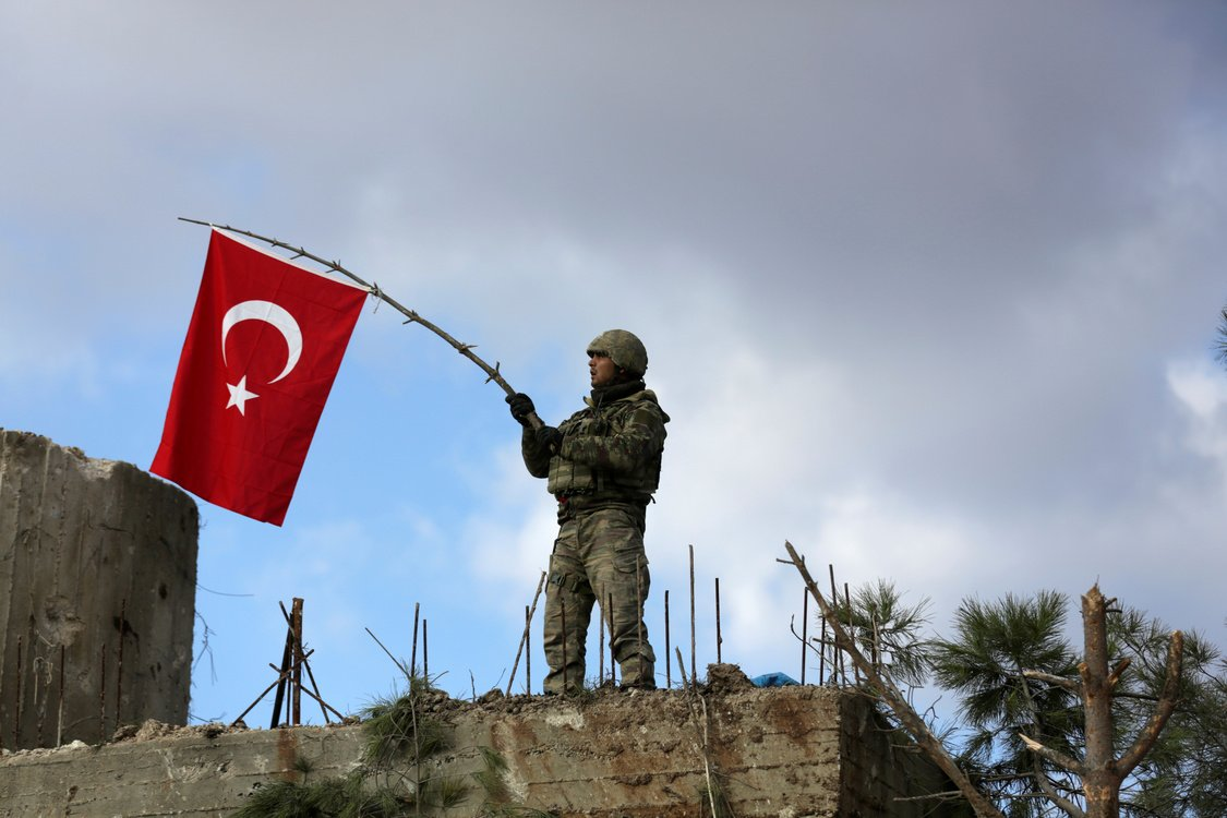 Turkish and Free Syrian Army soldiers took control of Afrin